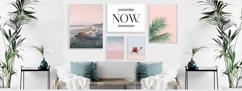 Modnchic - decorating our home with wall posters can make us happy