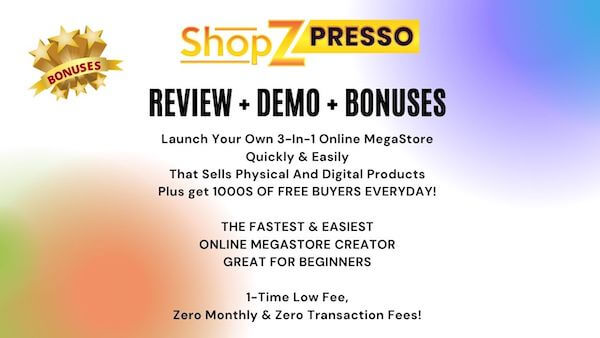 ShopZPresso helps you to launch your 3-in-1 online megastore quickly and easily